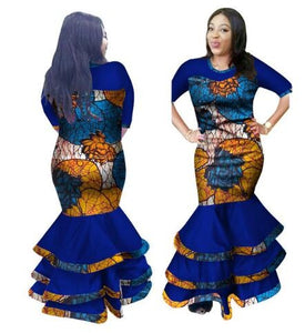 2017 Top Fashion Cotton Robe Africaine African Dresses For Women New Arrival Bazin Riche African Women Dress Plus Size M-6xl