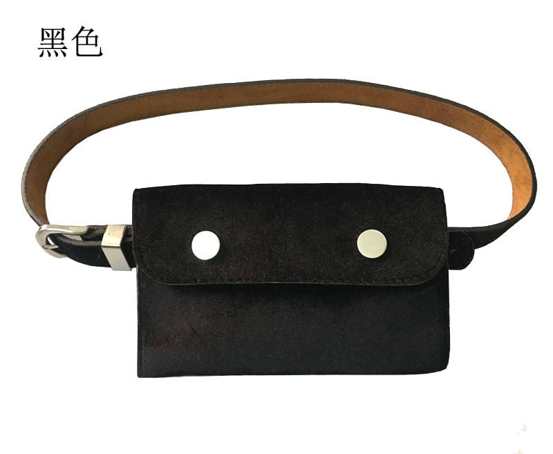 2018 Ladies Belt Wallet jinsirong candy color female fine belt belt key bag dual-purpose mobile phone Saehan high-end fashion