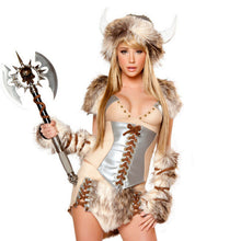 2018 New Sexy Viking pirate costume Halloween Cow devil loaded Temptation Set Party Sexy plush Female warrior cosplay dress