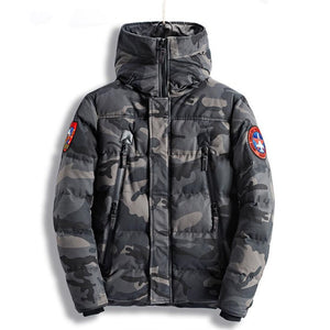 2018 New Winter Bomber Jacket Men Thicken Warm Parkas Hooded Coat Camouflage Army Military Embroider Jacket Padded Male Overcoat