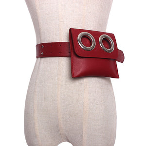 2018 new Women Casual Leather Waist Belts Brand Chain Bag Hobo Female waist Small belt Bags accessories