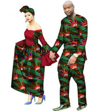 2018 new arrival african couples suits women dress&men suit plus size suits M-6XL