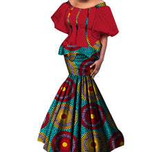2019 New African Kanga Dresses for Women Dashiki Traditional Cotton Top Skirt Set of 2 pieces Clothing African Clothes WY4306