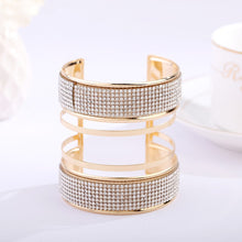 2019 New cuff arc form three-dimensional exaggerated punk Shiny plated rhinestones bracelet jewelry products sell like hot cakes