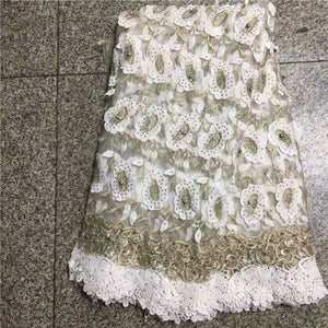 2019 Peach African Tulle Lace Fabric Guipure Lace High Quality French Net Laces Fabric With Stones For Dress