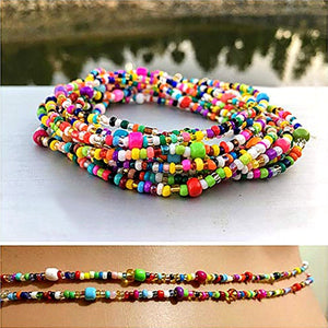 2019 Summer Double Bead Belly Waist Chains Women Sexy Bikini Beach Body Chain Strand Charms Vintage Waistband Bohemia Jewelry
