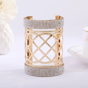 2019 new arrival round big cuff bangles exaggerated punk hollow out good plating bracelet jewelry products sell like hot cakes