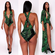 2Pcs Swimwear set Women V Neck Bandage Swimsuit Beachwear Cover Up Kaftan