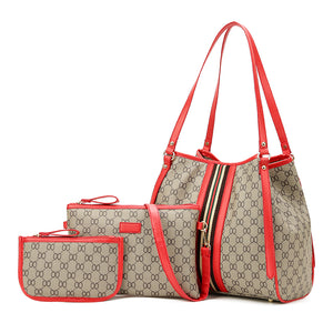 3 set women handbag large tote bag shoulder crossbody bag Lady Messenger Bags Designer Soft Tote for girls