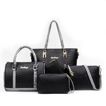 5pcs/set Women Handbag Set Bolsa Feminina Fashion Designer PU Leather Crossbody Bag Ladies Shoulder Messenger Bag sac a main