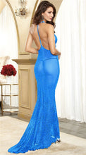 8 Colors Sexy lingerie hot erotic underwear hanging neck sexy costumes tulle mermaid princess transparent long sexo dress