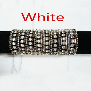 8 row bracelet multilayer Openable big bangle Rhinestone Stretch wedding Party Cuff Chain Crystal Vintage jewelry pulseras retro