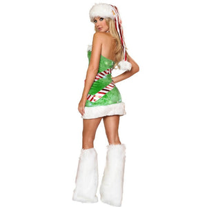Adult sleeveless Green Women Christmas Costumes Women christmas trees Cosplay Sexy Santa Claus Costumes for Adults Uniform