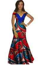 African Clothing Rushed Promotion 2017 African Dresses For Women Fashion Design Bazin Riche V-neck Long Dress Plus Size Regular