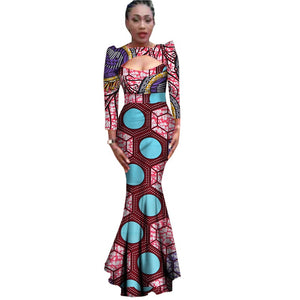 African Clothing Traditional African Dresses For Women Promotion 2017 Cotton Print Dress New Clothing In Africa