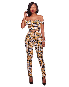 African Clothing Traditional Time-limited Polyester 2017 Sexy Set Of Two Pieces African New Elegent Women Clothing
