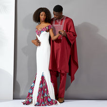 African Couples dresses new style Fashion Ankara dresses ankara Print Wax material wedding dress bazin african traditional clot