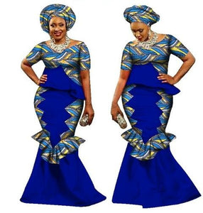 African Dress Limited Cotton Africa Bazin Riche New Arrival Fashion Style 2017 African Women Suit Xs-6xl