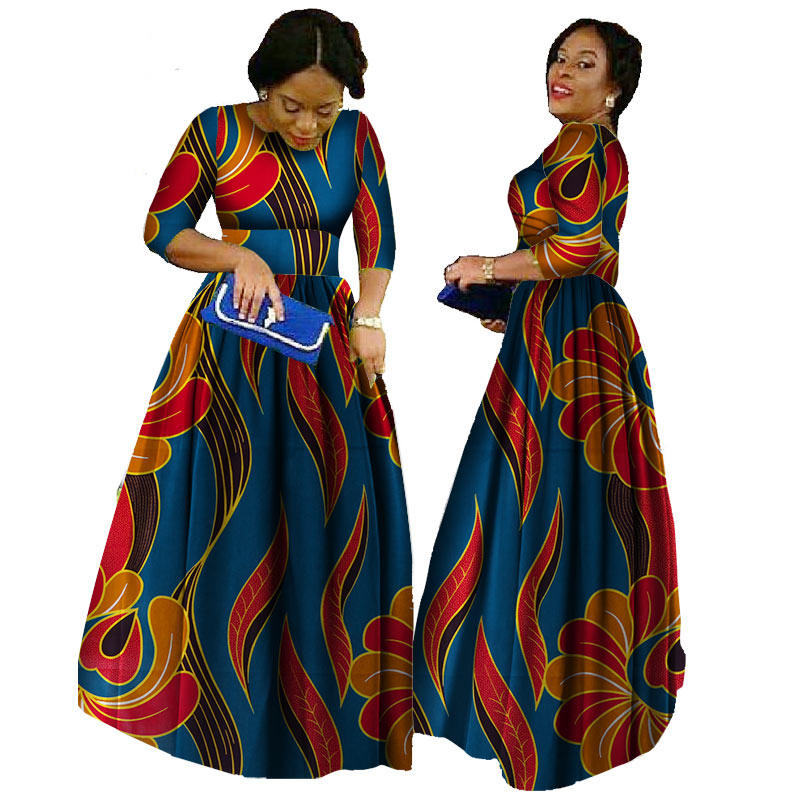 0c14e12ce African Dresses For Women 2018 Ankara Length Plus Size Traditional African  Clothing Half Sleeve Ball Gown ...