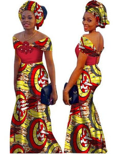 African Dresses For Women Time-limited Top Fashion Cotton 2017 African Print Dress, Long Fashion Women Clothing