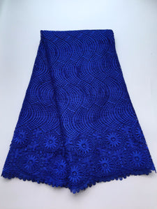 African Lace Hot Sell Mesh 2016 New Arrival royal blue Color african cord Lace /guipure lace Fabrics High Quality S9-9024