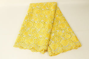 African Laces Fabrics Embroidered Nigerian Guipure French Cord Lace Fabric High-quality Rose African French Net Lace FabricYM123