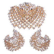 Ahmed Fashion Bohemian Full Rhinestone Gold Silver Shell Earring&Ring Set for Women New Trend Statement Jewelry Set Gifts