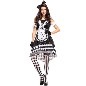 Alice in Wonderland Sexy Mad Hatter Costumes Women Halloween Party Outfit Fancy Dress Mad Hatter Costume Adults Women Fantasias