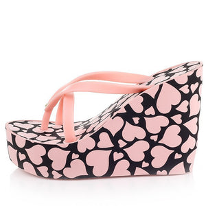 BIGTREE 2017 New Arrival Slipp Woman Summer Super High Heel Wedges Platform Flip Flops Women Women Summer Sandals 40 TXJ