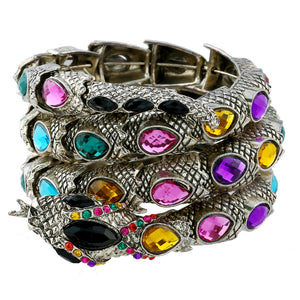 BONLAVIE 4 Colors Fashion Cuff Bangle Women Armband Retro Snake Bracelet Punk Arm Bracelets &Bangles 2017 Jewelry