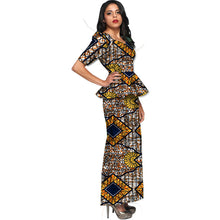Custom Made Wax Tops+Skirts Set Ladies Suits African Women Two Pieces African Clothing Plus Size Party Costume