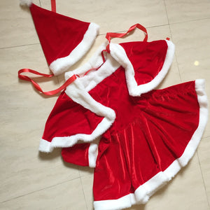 Cute Christmas dress costumes Miss Santa Claus Costume  Sweet Santa Dress