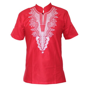 Dashikiage 5 Colors African Fashion Men/women Unique Embroidery Design Causal T-shirt Cool Outfit Tops High Quality