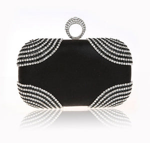 Diamonds Women Evening Bags Chain Shoulder Purse Handbags One Side Rhinestones Evening Clutch Bags Wedding Party Purse