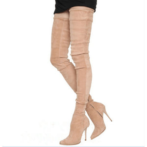 DoraTasia 2018 luxury brand large sizes 33-48 Women's shoes Boots thin High heels Over-The-Knee boots woman party shoes