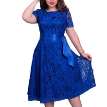 Elegant High Quality Casual Lady Dress 2017 Summer Women Vintage Lace Dresses