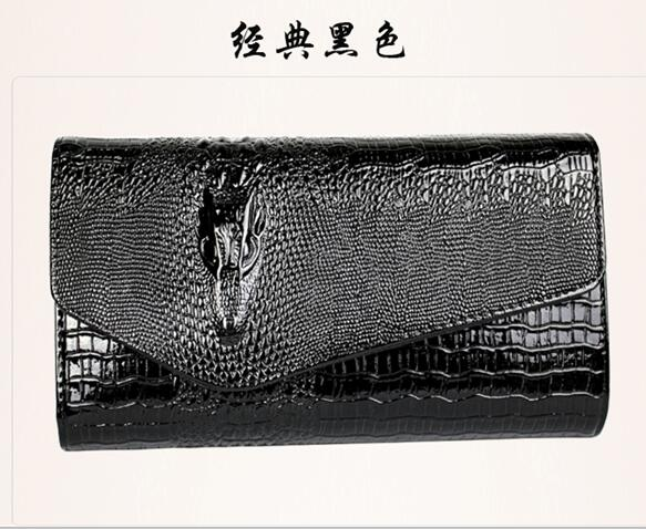 Europe style famous brand designer Women bag crocodile pattern bright pu leather clutch fashion handbags shoulder Messenger bags