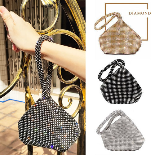 Evening Clutch Bag Women Diamond Bag Purses And Handbags Rhinestone Wallet Bridal Wedding Party Banquet Bags Sparking Silver