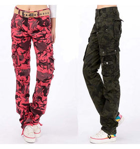 Fashion 2017 Women Men Casual Loose 3D Printed Cargo Pants Army camouflage Overalls Trousers Plus Size 5XL
