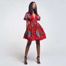 Fashion African Dresses for Women Floral Print 2019 News Robe Summer Party Backless Tutu Vestidos Bazin Dashiki African Clothes