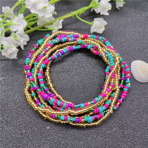 Fashion Bohemia Double Bead Belly Chains Body Jewelry Women Summer Sexy Beach Waist Chain African Waist Chain for women 2019