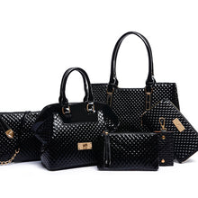 Fashion Casual Serpentine Handbag high quality Women Handbag Crossbody Bag Handbag+Messenger Bag+rse+Wallet 6 sets free shipping