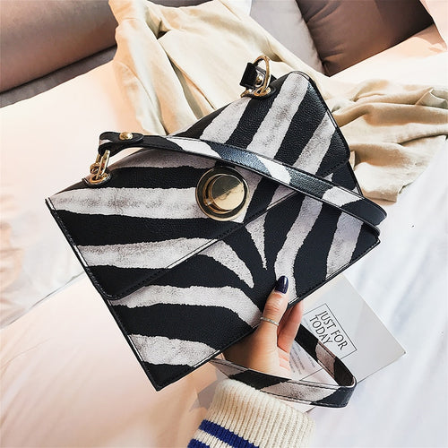 Fashion Leopard Zebra Pattern Pu Leather Large Capacity Ladies Shoulder Bag Handbag Crossbody Messenger Bag Female Bolsa Flap