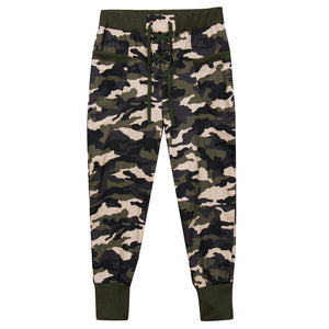 Fashion Women's High Waist Camouflage Cotton Bandage Pant Elastic Slim Army Green Trousers Full Length Pants Clothing Wear New