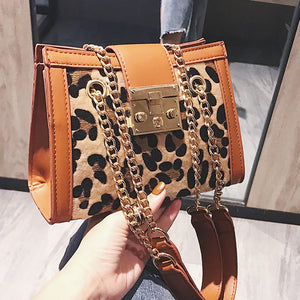 Female 2018 Korean style crossbody bags for women small Leopard print handbag chain shoulder bag Messenger bag new hand