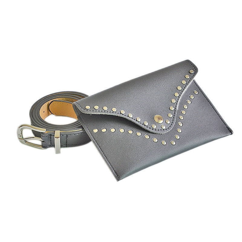 Female Polychromatic PU Leather Belt Girls Fashion Beltbag Waistband Ladies Fine Handset Bag Belt Simple Casual Belt Bags B-9127