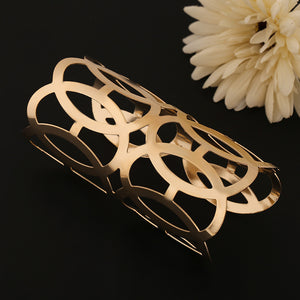 Gold Color Alloy Punk Rock Cuff Bracelets & Bangles Fashion Jewelry 2017 Designer Bijoux For Woman