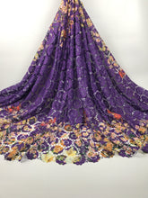 High Quality African Lace Fabric 2017 Latest African Guipure Lace Purple Color Nigerian Guipure Lace Fabric