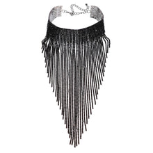 JEROLLIN Fashion Jewelry Black Choker Long Alloy Tassel Necklace Women