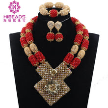 Latest African Wedding Nigerian Beads Jewelry Sets Yellow Bride Crystal Statement Necklace Set Women Gift
